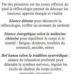 Cabinet de réflexologie et massage du ventre